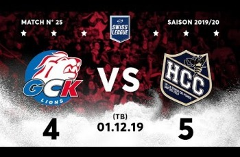 Embedded thumbnail for GCK Lions - HC La Chaux-de-Fonds (4-5) TB