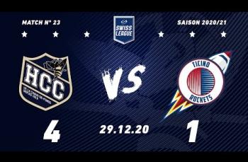 Embedded thumbnail for HC La Chaux-de-Fonds - HCB Ticino Rockets (4-1)